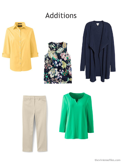 5 additions to a spring capsule wardrobe of navy and brights