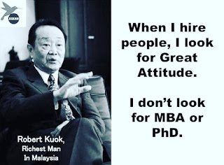 Great attitude is important