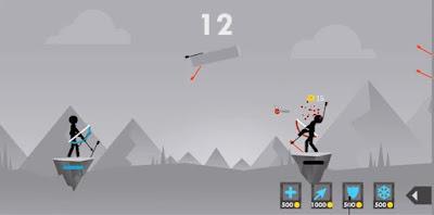 لعبة Stickman Archer Fight كاملة للأندرويد، لعبة Stickman Archer Fight مكركة، لعبة Stickman Archer Fight مود فري شوبينغ