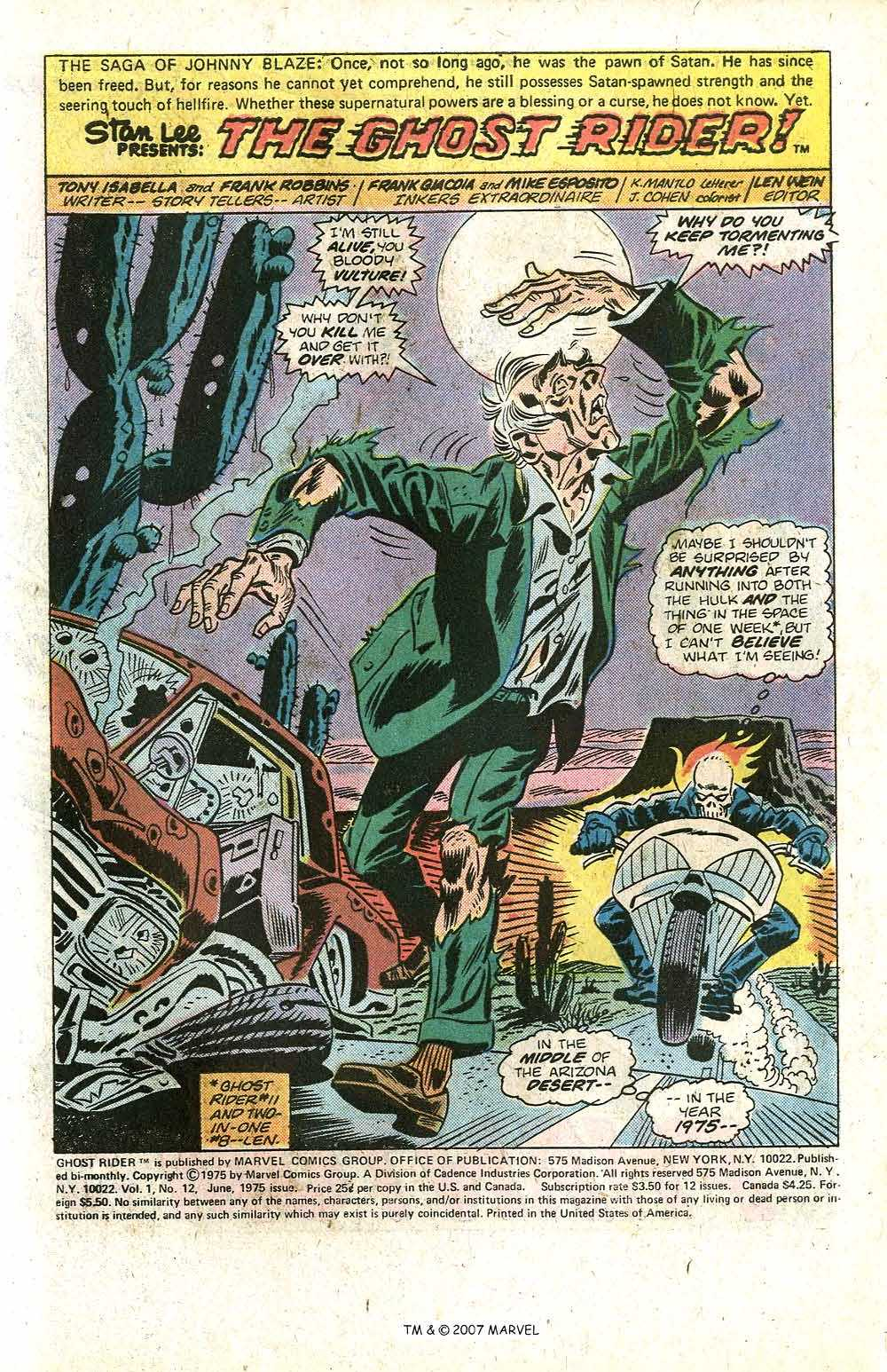 Ghost Rider (1973) Issue #12 #12 - English 3