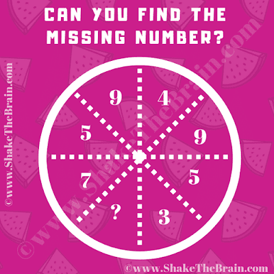 In this Math Missing Number Brain Teaser, your challenge is to find the missing number which will replace the question mark