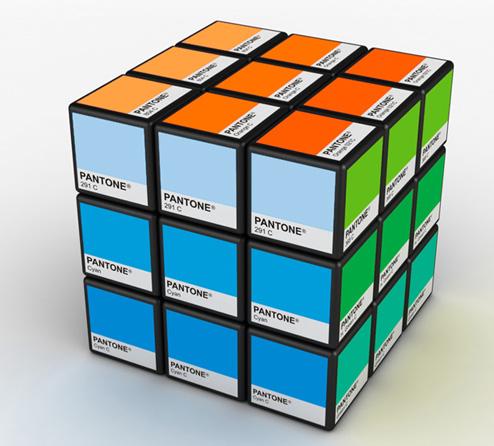 pantone cubo magico - Pantone, as cores e as tendencias