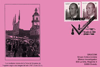 Tarjeta del matasellos de la 40ª Feria de Muestras de Vegadeo