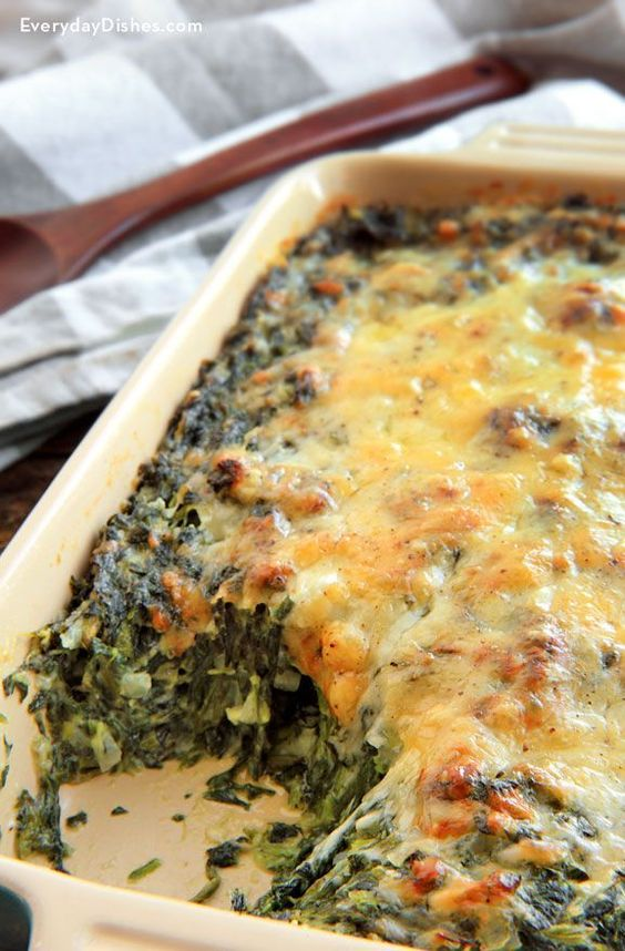 The Best Spinach Gratin Recipe Ever #thebest #spinach #spinachrecipes #gratin #veganrecipes #vegetarianrecipes #vegetablerecipes