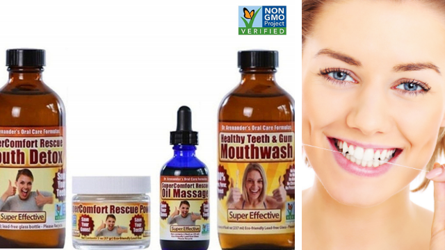 COMPLETE DENTAL RESCUE KIT – Organic/nonGMO – MODERATE to SERIOUS problems - Helps reduce gum recession, gingivitis, bleeding, sensitivity, inflammation, plaque, lichen planus, toothache, root canals