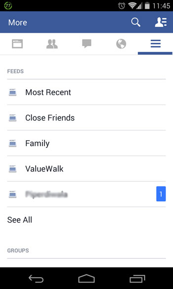How To View Most Recent Feed in Facebook App