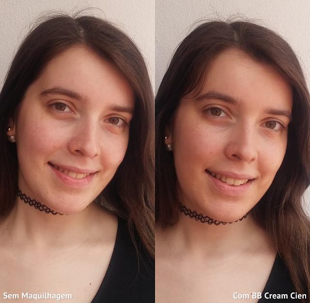 Cien BB Cream Tudo-Em-Um Antes e Depois