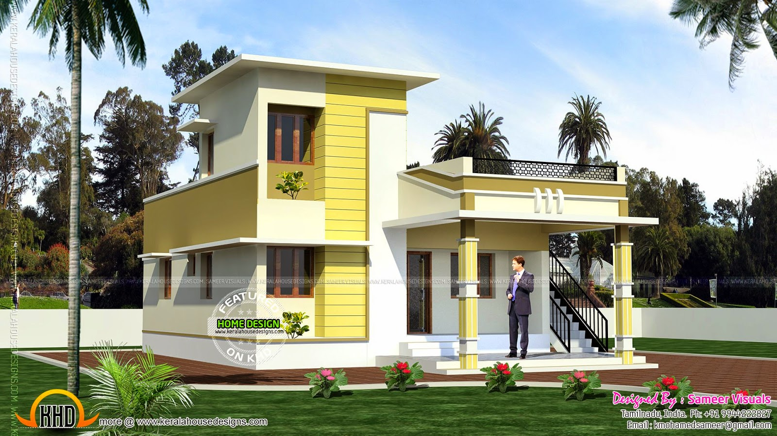Single storied tamilnadu home kerala home design and for Indian house portico models