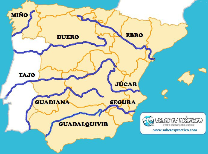 Map Of Spain Ebro River.Rivers Of Spain Maps Ms Easy Peasy English Class