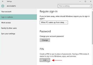 Cara Menambahkan PIN pada User Account Windows 10