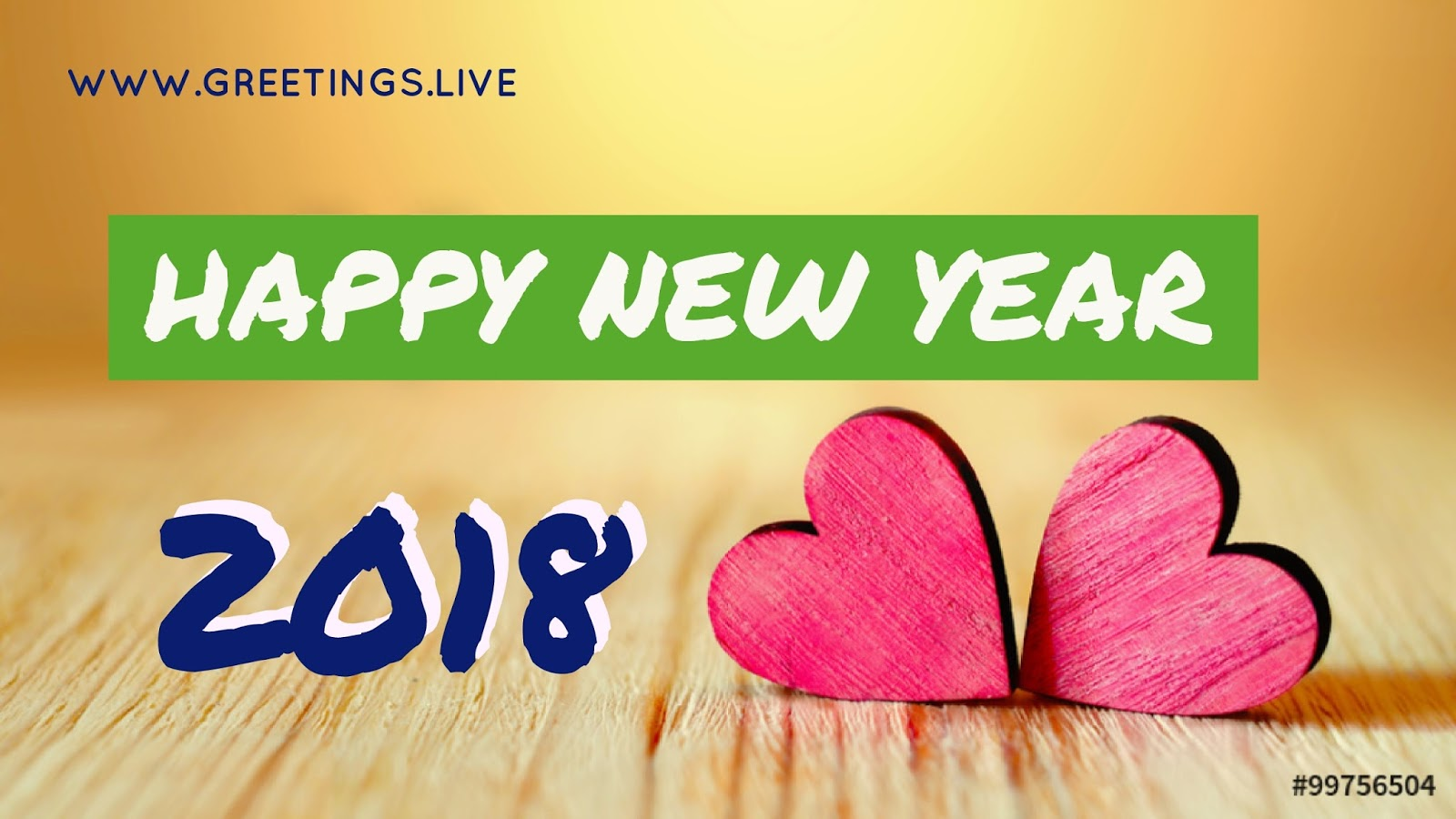 Greetingsve free hd images to express wishes all occasions pink two loving hearts happy new year image in englishg m4hsunfo