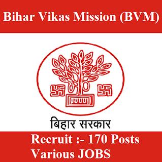 Bihar Vikas Mission, BVM, BIhar, Graduation, freejobalert, Sarkari Naukri, Latest Jobs, bvm logo
