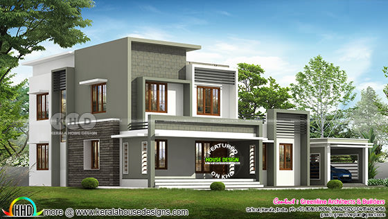 2944 square feet 4 bedroom box model contemporary home
