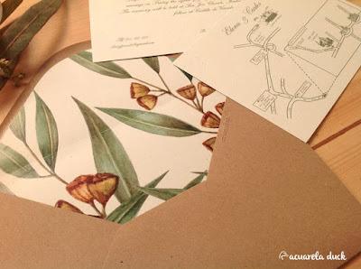 Invitación eucalipto