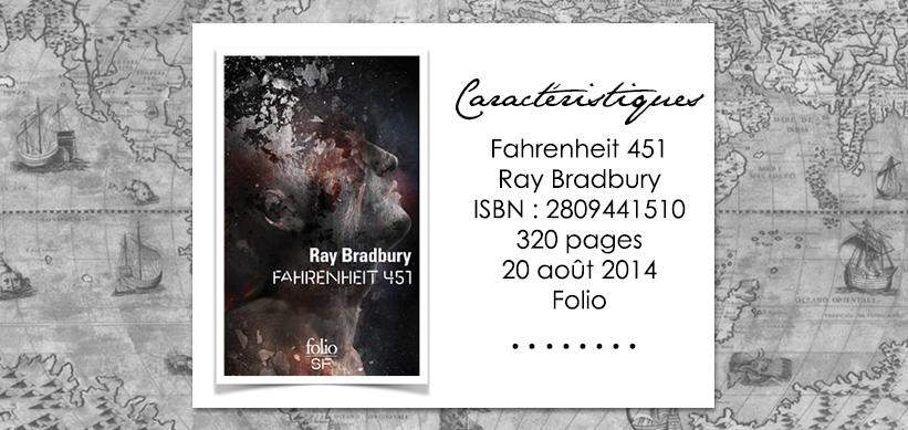 Couverture du livre Fahrenheit 451 de Ray Bradbury