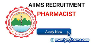 Latest Govt Pharmacist Jobs in AIIMS Recruitment 2020