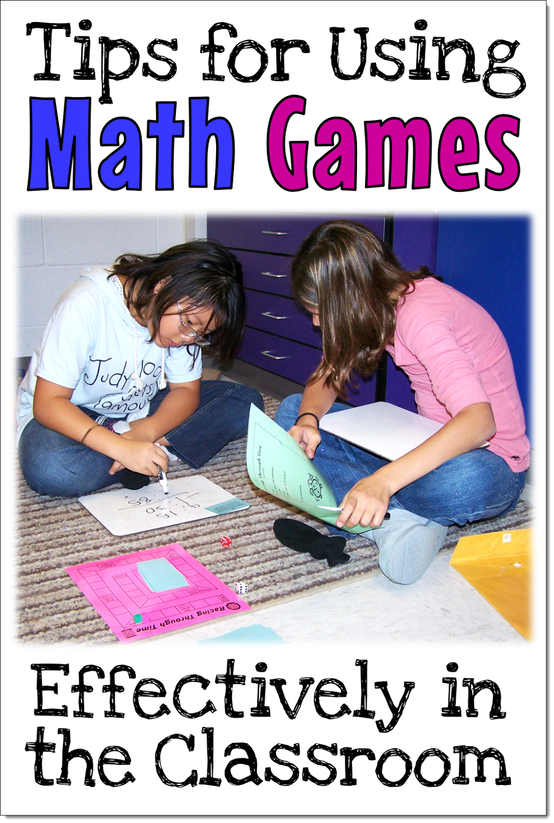 Corkboard Connections Tips For Using Math Games