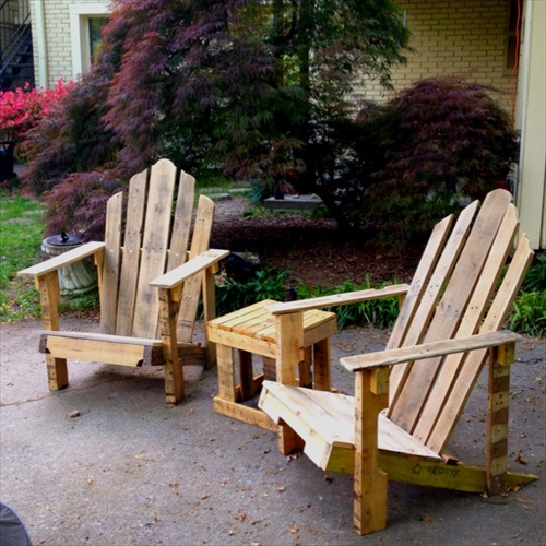 Diy pallet furniture for your beautiful garden pallet Chairs made out of wooden pallets