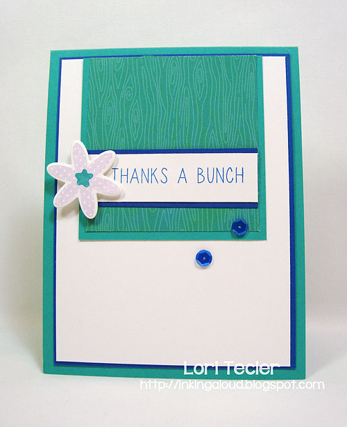 Thanks a Bunch-designed by Lori Tecler-Inking Aloud-stamps and dies from Reverse Confetti