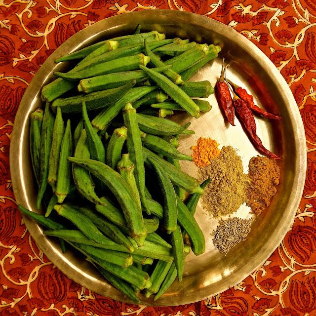 bhindi tareko, Nepali style okra, okra, vegan, easy, recipe, spicy, vegetarian, no onion, no tomato, Nepal, tareko, stir fry,