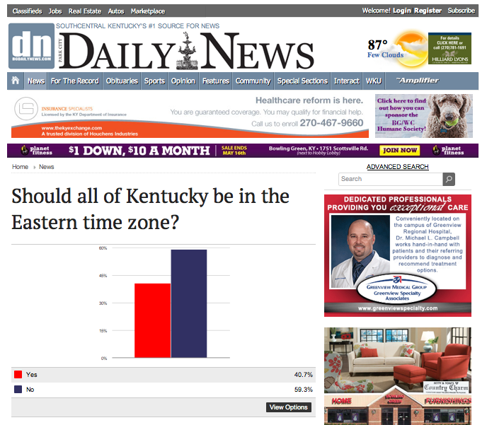 http://www.bgdailynews.com/news/should-all-of-kentucky-be-in-the-eastern-time-zone/poll_53412a10-d9db-11e3-95d0-0019bb2963f4.html?mode=nogs