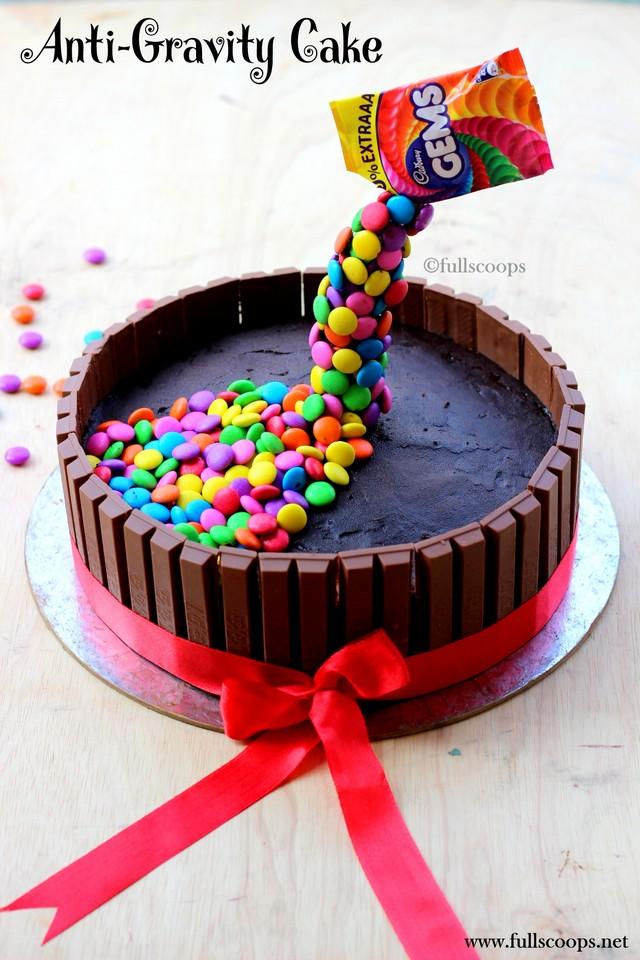 How to make a gravity defying cake Kit Kat MM Gems Cake Full