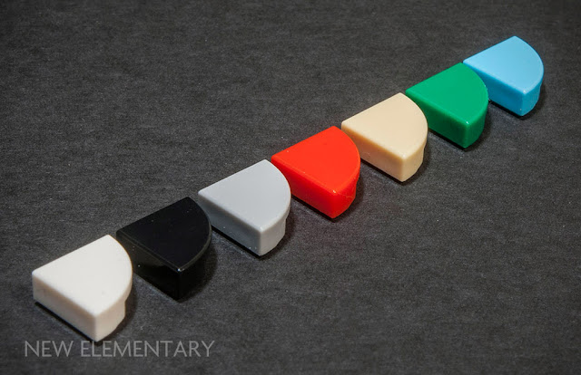 LEGO part 25269, 1/4 Circle Tile 1X1 - available colours