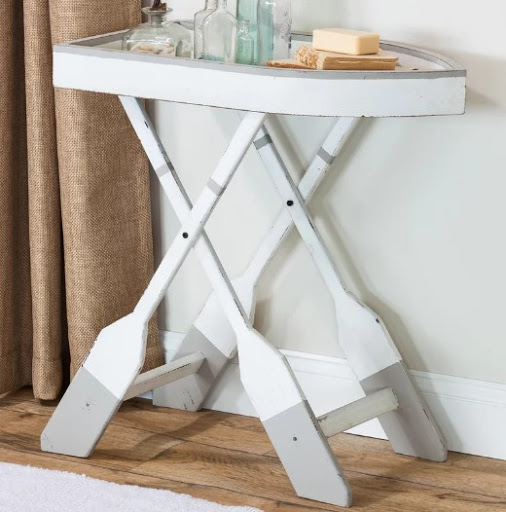 Nautical Boat Oar End Table