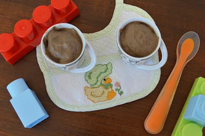 Mousse de Alfarroba e Chocolate para Bebés