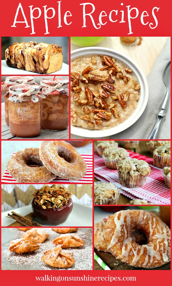 Delicious Apple Recipes | Celebrate Fall with Apple Recipes for your Family | Walking on Sunshine Recipes