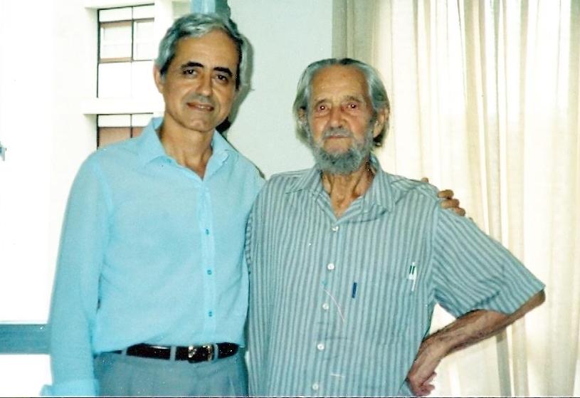 Nikolaos e Wirtz, em 1991. Foto: acervo Nikolaos Argyrios Mitsiotis