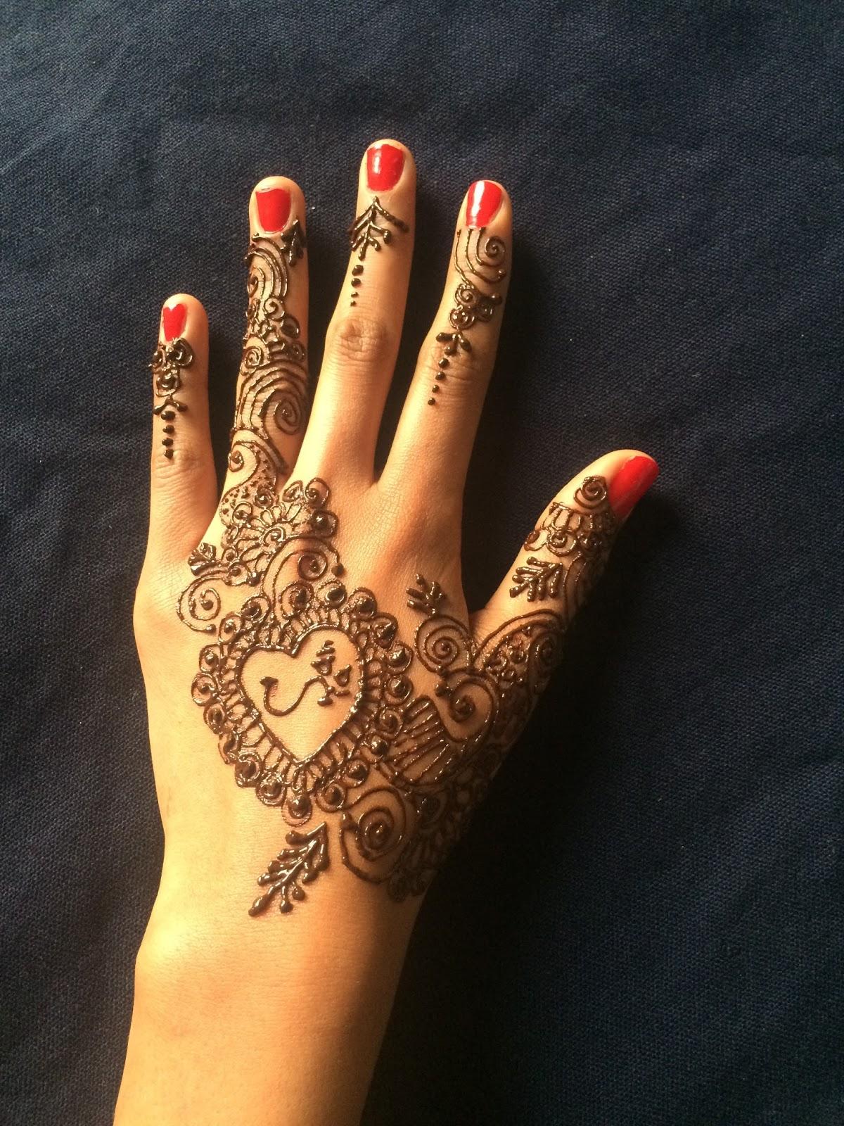 Mehndi Finger Dizain : Latest mehndi dizain for hands new design