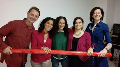 professor de fonetica Luiz Roos y colegas