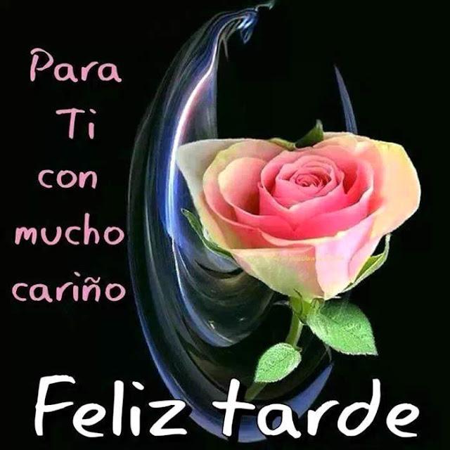 buenas tardes con rosas