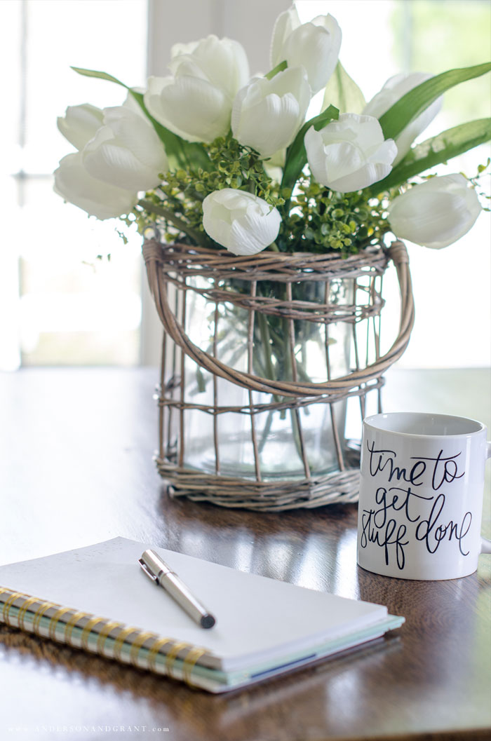 Seven tips for a calm and efficient morning routine #simplify #productivity #morningroutine #andersonandgrant