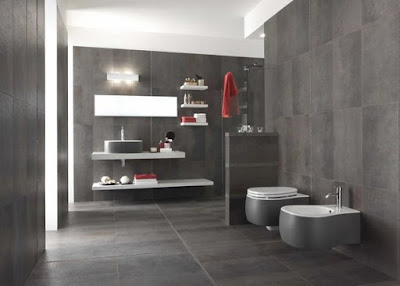 trendy gray bathroom wall floor tiles