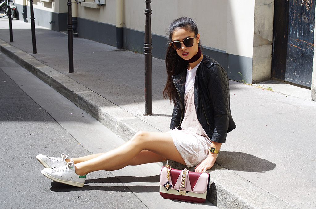 Elizabeth l Velvet dress outfit l Zara Asos l THEDEETSONE l http://thedeetsone.blogspot.fr