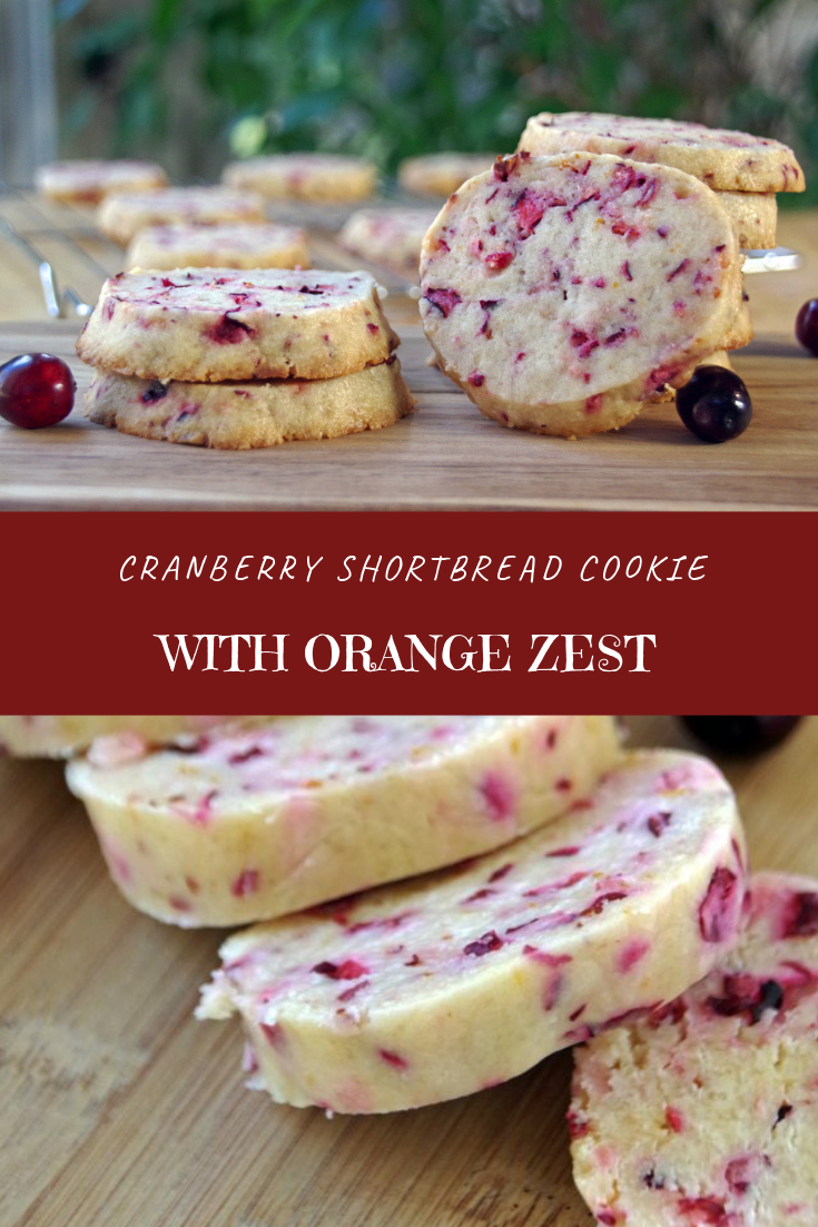 Cranberry Shortbread Cookie with Orange Zest Recipe