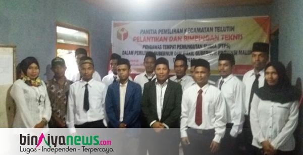 Amsuri Lantik Pengawas TPS Kecamatan Telutih