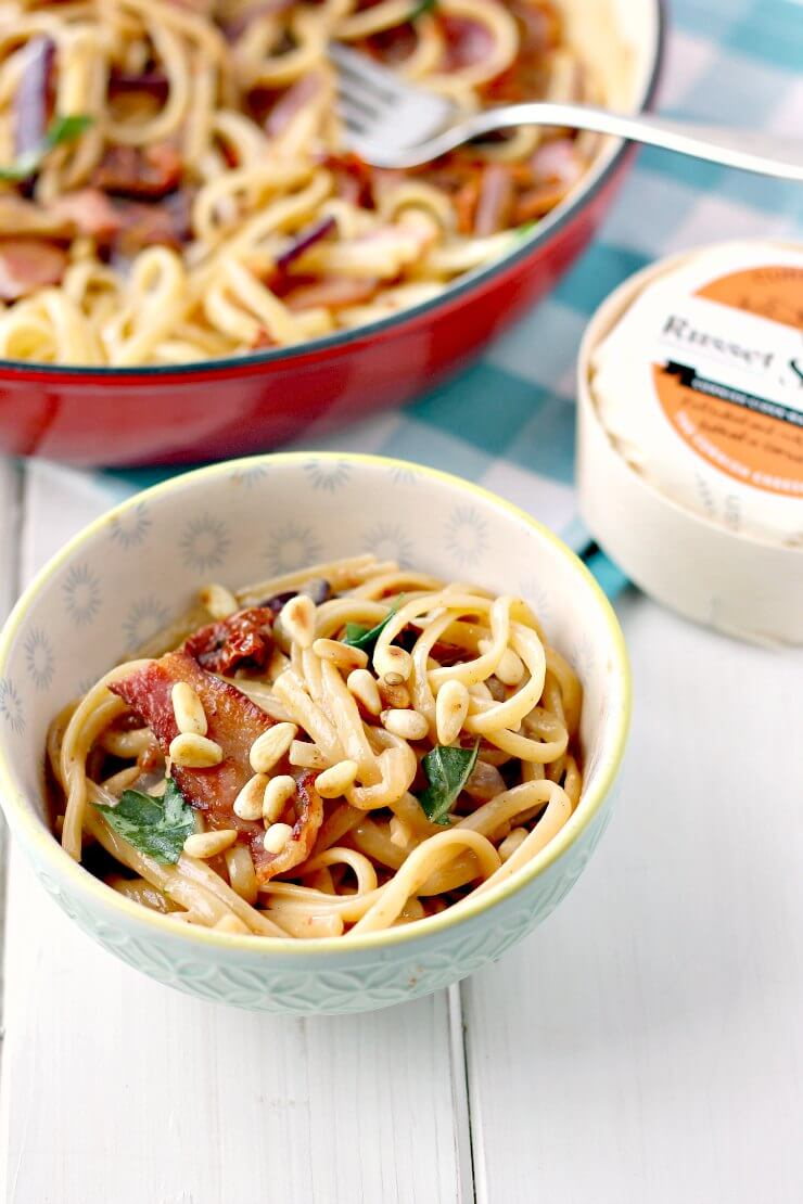 Russet Squire Linguine with Sun Dried Tomatoes and Pine Nuts