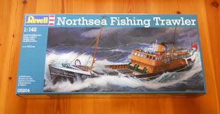 maqueta barco pesquero del mar del norte