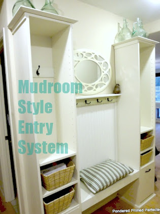 Mudroom Style Entry DIY