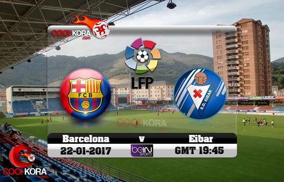 مشاهدة مباراة إيبار وبرشلونة اليوم 22-1-2017 في الدوري الأسباني