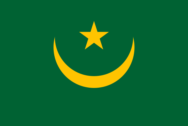 Mauritania Flag: Colors before 2017 referendum that added red bands