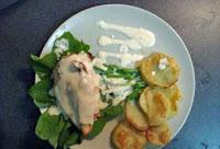 Γεμιστό φιλέτο κοτόπουλο με σάλτσα παρμεζάνα - by https://syntages-faghtwn.blogspot.gr