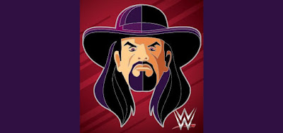 WWE The Undertaker Portrait Enamel Pin by Tom Whalen x Gallery 1988