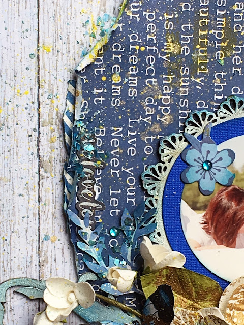 Love This Layout by Lisa Novogrodski for Scraps of Darkness April Kit Blue Skies and Sunshine
