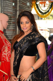 Actress Neetu Chandra Stills in Black Saree at Designer Sandhya Singh's Store Launch  0007.jpg