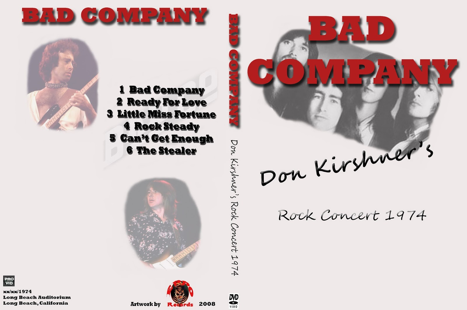t u b e bad company 1974 10 12 long beach ca dvdfull pro shot. Black Bedroom Furniture Sets. Home Design Ideas