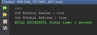 Contoh penggunaan startsWith dan endsWith pada Java
